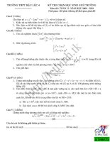 Đề thi chọn học sinh giỏi môn toán lớp 12 THPT Hậu Lộc 2009-2010 pdf