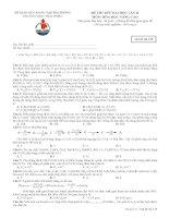 Đề thi thử đại học môn hóa học nâng cao lần 2 trường THPT Thái Phiên - Mã đề thi 135 pdf