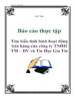 Báo cáo thực tập: Tìm hiểu tình hình hoạt động bán hàng của công ty TNHH TM – DV và Tin Học Gia Tín docx