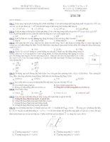 Trường THPT chuyên Huỳnh Mẫn Đạt - đề thi vật lý 11 nâng cao (đề số 194) ppsx