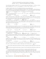 Đáp án đề thi CĐ môn Vật lý khối A năm 2010 pot
