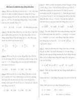 Trắc nghiệm ôn thi đại học môn vật lý - Dao động điều hòa ppt