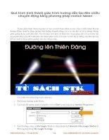 Quá trình hình thành giáo trình hướng dẫn tạo đèn chiếu chuyển động bằng phương pháp motion tween p1 docx