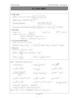 Tài liệu ôn toán - Bài tập giải tích lớp 12 - phần 5 potx
