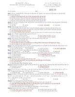 Trường THPT chuyên Huỳnh Mẫn Đạt - đề thi sinh học 12 nâng cao (đề số 127) pps