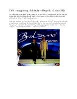 Thời trang phong cách Italy - đẳng cấp và sành điệu pdf