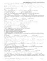 Tài liệu ôn thi hóa học lớp 12 trường thpt Phan Ngọc Hiển - phần 4 ppsx