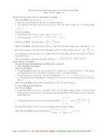 Đáp án đề thi ĐH mônToán khối D năm 2010 pdf