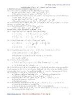 Hệ thống Bài tập Hình học Giải tích 12 pptx