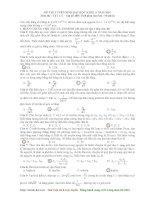 Đáp án đề thi ĐH môn Vật lý khối A năm 2010 pot
