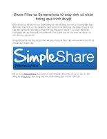 Share Files và Screenshots từ máy tính cá nhân thông qua trình duyệt pot