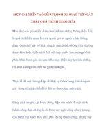 MỘT CÁI NHÌN VÀO BÊN TRONG SỰ GIAO TIẾP-BẢN CHẤT QUÁ TRÌNH GIAO TIẾP ppsx