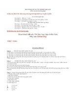 Đề cương ôn thi tốt nghiệp THPT môn Sinh học lớp 12 - Phần 1 pptx