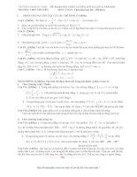 ĐỀ KHẢO SÁT CHẤT LƯỢNG LỚP 12 LẦN 3 NĂM 2011 TRƯỜNG THPT CHUYÊN ĐẠI HỌC VINH MÔN TOÁN pdf