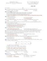 Trường THPT chuyên Huỳnh Mẫn Đạt - đề thi hóa học 12 nâng cao (đề số 123) ppsx