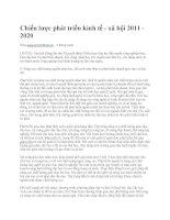 Chiến lược phát triển kinh tế - xã hội 2011 đến năm 2020 ppt