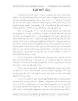 BẢN THUYẾT MINH ĐỒ ÁN TỐT NGHIỆP đề tài Thiết kế quy trình công nghệ gia công trục vít