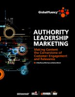 Authority leadership marketing making content the cornerstone of customer engagement and relevance