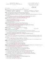 Trường THPT chuyên Huỳnh Mẫn Đạt - đề thi sinh học 11 căn bản (đề số 567) doc