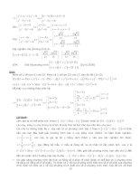 Cẩm nang các phương pháp giải nhanh đề thi ĐH môn Toán - Phần 2 doc
