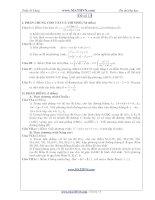 Đề thi thử Đại học năm 2011 của Trần Sỹ Tùng ( Có đáp án) - Đề số 13 ppt