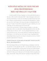thông tin về bệnh gan - KIỂM SÓAT NHỮNG TÁC DỤNG PHỤ KHI DÙNG PEGINTERFERON ĐIỀU TRỊ VIÊM GAN C pdf