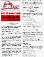 Một số dạng toán về Cực đại và cực tiểu của hàm số- Nguyễn Anh Dũng pdf