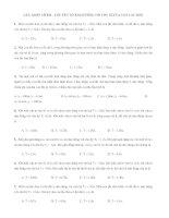 Trắc nghiệm ôn thi đại học môn Vật lý - CẮT, GHÉP LÒ XO – CÁC YẾU TỐ ẢNH HƯỞNG TỚI CHU KÌ CỦA CON LẮC ĐƠN ppt