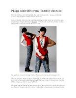 Phong cách thời trang Tomboy cho teen pot