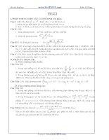 Đề thi thử Đại học năm 2011 của Trần Sỹ Tùng ( Có đáp án) - Đề số 2 pptx