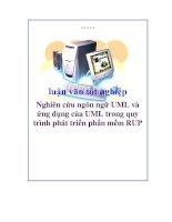 luận văn tốt nghiệp: Nghiên cứu ngôn ngữ UML và ứng dụng của UML trong quy trình phát triển phần mềm RUP ppt