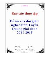 Báo cáo thực tập: Đề án xoá đói giảm nghèo tỉnh Tuyên Quang giai đoan 2011-2015 potx
