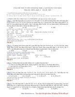 Hướng dẫn giải chi tiết đề thi ĐH môn Hóa khối A, B năm 2009 pptx