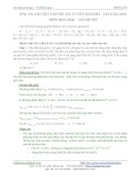 Hóa học thpt - Lời giải chi tiết đề thi ĐH năm 2009 khối A potx