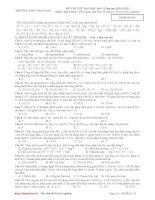 đề thi thử đại học môn hóa lần 1 năm học 2011- trường trung học phổ thông sào nam pdf