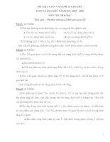 ĐỀ THI TUYỂN SINH LỚP 10 CHUYÊN THPT LÊ QUÝ ĐÔN MÔN HÓA pot