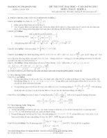 Đề thi thử đại học môn toán của trường Đại học sư phạm Hà Nội pot