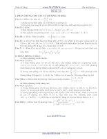 Đề thi thử Đại học năm 2011 của Trần Sỹ Tùng ( Có đáp án) - Đề số 11 pptx