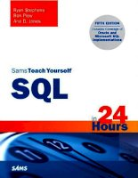 Sams Teach Yourself SQL in 24 Hours (5th Edition) pdf