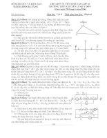Đề thi tuyển sinh THPT môn vật lý trường Lê Quý Đôn 2006 pdf