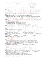 Trường THPT chuyên Huỳnh Mẫn Đạt - Đề thi sinh học 12 nâng cao (đề số 131) pps