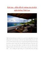 Koh tao – điểm đến lý tưởng của du lịch nghỉ dưỡng Thái Lan ppt