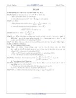 Đề thi thử Đại học năm 2011 của Trần Sỹ Tùng ( Có đáp án) - Đề số 4 potx