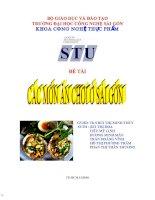 van hoa am thuc - các món ăn chơi Sài Gòn doc