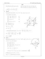 Tài liệu ôn toán - Bài tập hình học lớp 12 - phần 8 doc