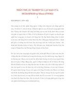 THÂN THẾ, SỰ NGHIỆP VÀ LẬP ĐẠO CỦA MUHAMMAD tại Mecca 1 potx