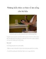 Những kiến thức cơ bản về ăn uống cho bà bầu doc
