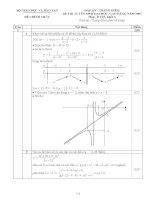 Đáp án - thang điểm đề thi đại học, cao đẳng môn toán khối A - 2007 ppsx