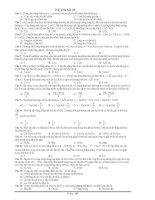 Tuyển chọn các đề ôn luyện thi ĐH môn vật lý lớp 12 - phần 9 pdf