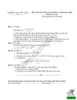 Đề thi chọn học sinh giỏi môn toán lớp 12 THPT Hậu Lộc pdf